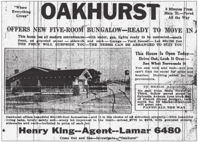 oakhurst-fort-worth-history