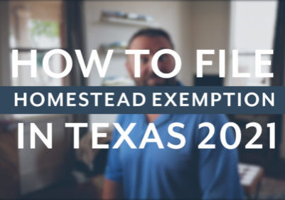 How to file Homestead Exemption Texas